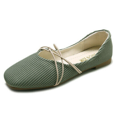 New Women's girl's canvas/pu leather Cap Toe Flats Espadrilles Loafers shoes Hot