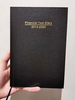 DIARY FINANCIAL YEAR DIARY 2019/20 A5 Week To View Hardcover Black