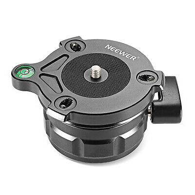 Neewer Tripod Leveling Base with Offset Bubble Level for Canon Nikon DSLR Camera