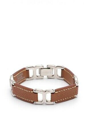 Hermes Bracelet Vaux Epson Brown SilverHardware  C engraved accessories access