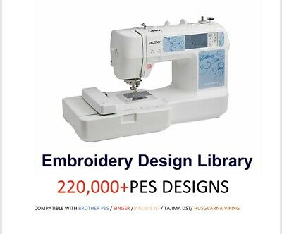 220,000+ Embroidery Designs Brother PES Designs Tutorial Lessons Tajima  EMBIRD