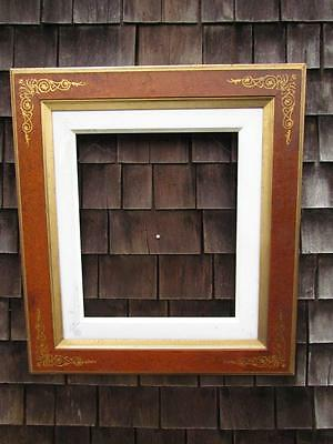 """Antique American Victorian Eastlake Painting Frame , Incised Gilt, Fits 24 X 21"""""""