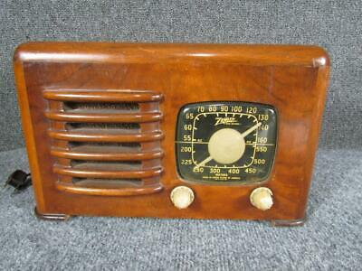 1941 Clean Zenith Radio, Model 6D526, Working Condition, Art Deco Toaster Case