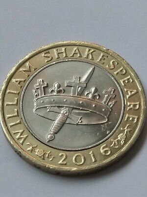 £2 Coin William Shakespeare Hollow Crown Sword Histories 2016