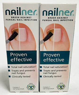 NEW Nailner Proven Effective Repair Brush Against Fungal Nail Infection x 2