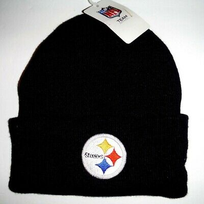 6597793a6fc42 Pittsburgh Steelers NWT Authentic Cuffed Beanie Toque Knit Hat NFL Reebok  Black