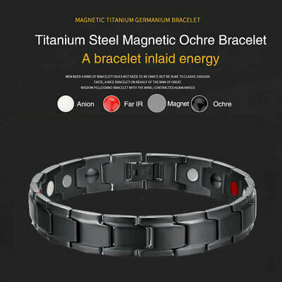Magnetic Therapy Bracelet Therapeutic Energy Healing Bracelet Stainless Steel