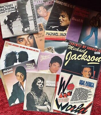 Lot De 12 X 45 Tours Michael Jackson Beat It I Just Cant Stop Loving You...