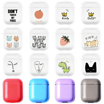 Transparent PC Hard Slim Cover Skin For Apple AirPods 1 2 Charging Case Earphone