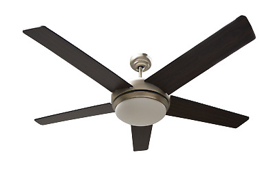 52 inch Ceiling Fan with Brushed Nickel Finish and Walnut/Silver Reverse Blades