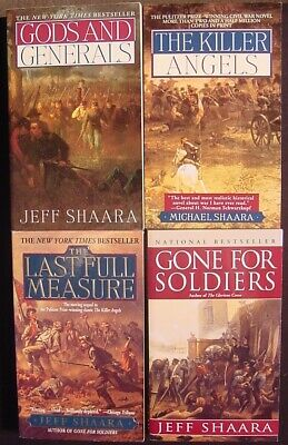 Jeff /Michael Shaara~Lot 4 PB~Complete Civil War Trilogy + Gone for Soldiers~VGC