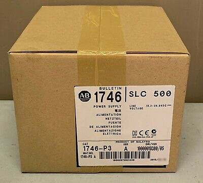 New Sealed Allen Bradley 1746-P3 1746P3 /A SLC 500 Power Supply Mfg 2015 QTY