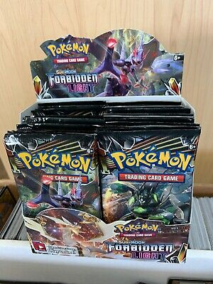 Pokemon Sun and Moon Forbidden Light Booster Pack x4 Brand New 10-Card Packs