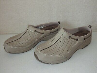 eb79f01e572978 Easy Spirit Travel Time Rio Tan/Beige Leather Mesh Women's Mules Shoes Size  9.5