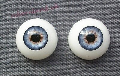 Half Round Reborn Doll Optical Acrylic Eyes -Baby Blue Colour- 18Mm, 20Mm, 22Mm