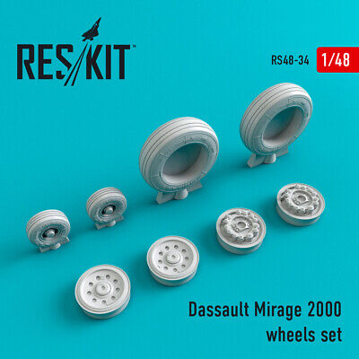 Dassault Mirage 2000 wheels set   (Resin Upgrade set) 1/48 ResKit RS48-0034