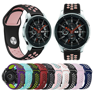 Classic Silicone Strap Bands Bracelet Replace L/S For Samsung Galaxy Watch 46mm
