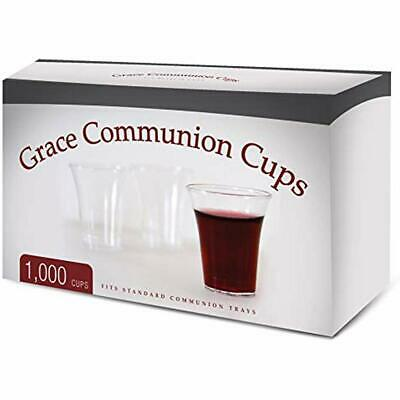 Grace Communion Cups - Box Of 1000 Plastic Disposable Standard Holy Trays ""