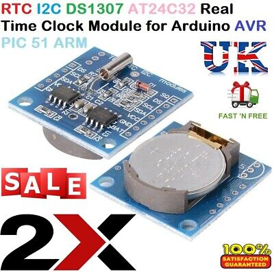 2X RTC I2C DS1307 AT24C32 Real Time Clock Module for Arduino AVR PIC 51 ARM NEW