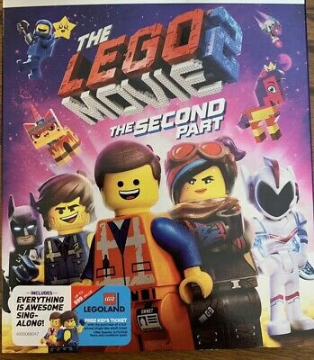 The Lego Movie 2 The Second Part (Bluray,DVD, DIGITAL COPY Incl,2019)Chris Pratt