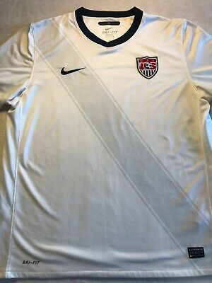 f668940c3 Authentic Nike Dri-Fit National Team USA Mens XL Soccer White World Cup  Jersey C