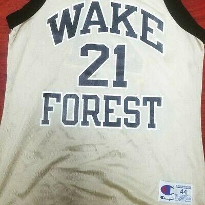 e09b09983 Vintage 1990s Champion Tim Duncan Wake Forest Basketball Jersey Size 44  Large