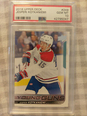 2018 Upper Deck Young Guns #249 Jesperi Kotkaniemi RC Gem Mint PSA 10