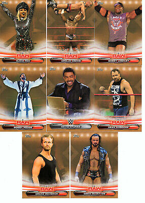 2019 Topps WWE Raw Inserts Bronze and Blue Parallel Pick Cards from list
