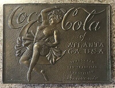 Coca Cola Belt Buckle. Atlanta GA. Trans-Pan San Francisco Exposition Souvenir.
