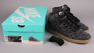 new styles 226d6 30ae6 Nike SB Dunk High PRO Warmth Pack Black White Grey Wool Sweater 685174-005  sz