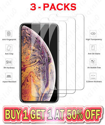 9H Tempered Glass Screen Protector Film For iPhone X XR XS MAX 5 6 7 8 PLUS SE