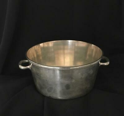 New Amsterdam Silver Co 2 handled BOWL Bucket C547 EPNS excellent ANTIQUE
