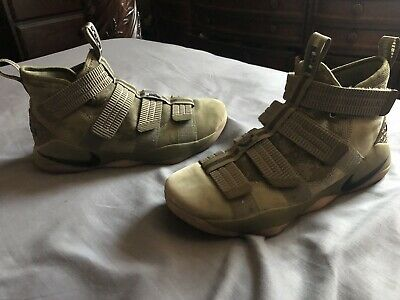 62e098514845 Nike Lebron Soldier XI 11 SFG Men s Basketball Shoes Olive Black Camo 897646  200