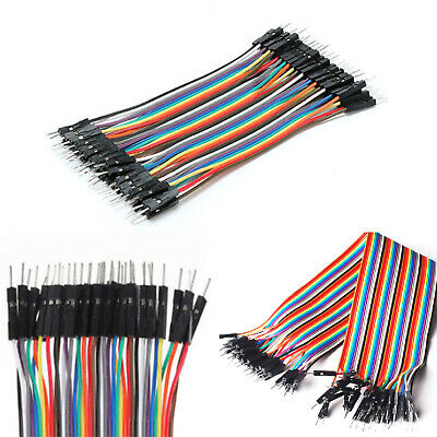 40pcs 20cm Dupont Jump Wire M-M Jumper Breadboard Cable Lead For Arduino UK