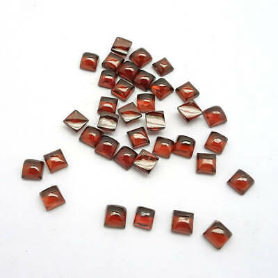5x5 mm Natural Garnet Mozambique Square Cabochon Loose Gemstone Great Lot KL03
