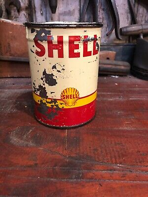 Shell 1 Lb Grease Can Vintage