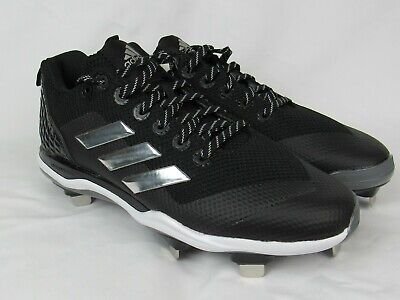 3f0bde522f23 Adidas Womens Power Alley 5 Baseball Cleat Shoe Black Silver White Size 9 M  US