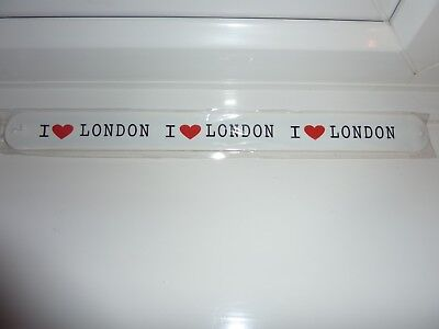 I LOVE LONDON - SLAP RULER / Wristband 12Inch New & Sealed Package