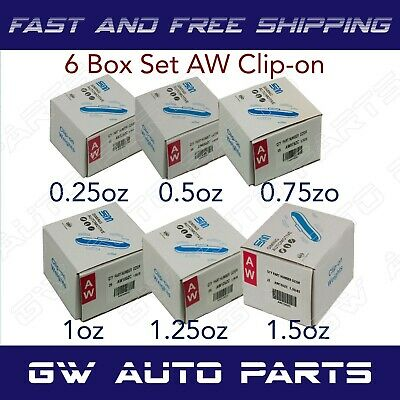 150 ASSORTMENT CLIP-ON WHEEL WEIGHT AW STYLE 0.25 0.50 0.75 1.00 1.25 oz 1.50 oz