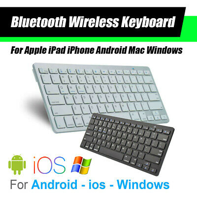 6c989a25ce6 Bluetooth Keyboard Wireless For Apple Android Mac Hp Windows Ultra Slim AU  Stock