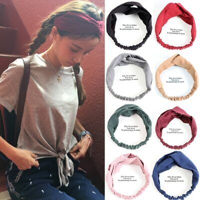 Hot Women Suede Turban Twist Knot Head Wrap Headband Twisted Knotted Hair Band