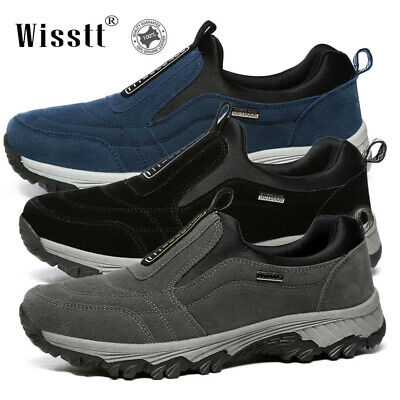 New Casual Shoes Men's Slip On Outdoor Sneakers Breathable Hiking Climbing Shoes