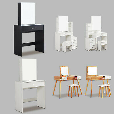 Modern Dressing Table Jewelry Makeup Desk W Mirror Drawer