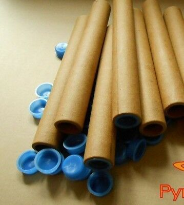 100 tubi in cartone diametro 26mm  lunghezza 150 mm- paper tube pyro whit  cup