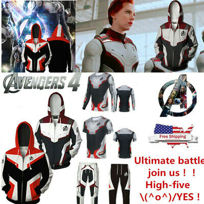 Avengers 4 Endgame 3D Print Men Hoodie Top Sweatshirt Sweater Jacket Coat