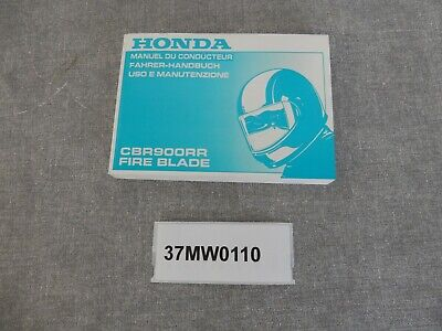 Bedienungsanleitung Manual du Conducteur Honda CBR900RR BJ.92 New Neu