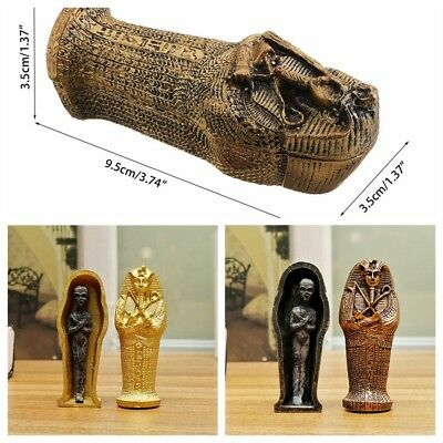 Ancient Egyptian Coffin Resin Figurine Sculpture Egypt Mummy Statue Home Decor