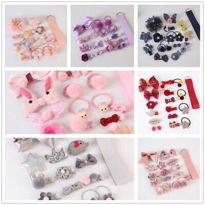 18Pcs/set Hairpin Girl Baby Hair Clip Bow Mini Flower Barrettes Star Kids Infant