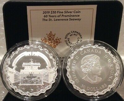 1959-2019 Saint Lawrence Seaway 60th Prominence $30 2OZ Silver Proof Coin Canada