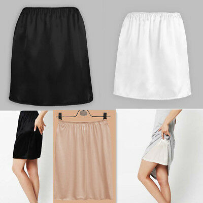 881a3c9369ae Women Satin Half Slip Underskirt Petticoat Under Dress Mini Skirt Safety  Skirt